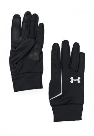 Перчатки беговые Under Armour UA No Breaks Liner. Цвет: черный
