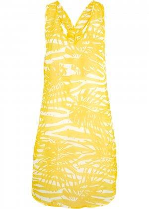 Пляжное платье bonprix. Цвет: желтый