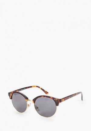 Очки солнцезащитные Topman. Цвет: коричневый