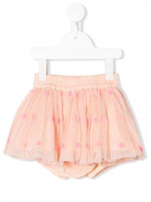 Пышная юбка с вышивкой Stella McCartney Kids. Цвет: розовый