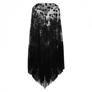 Шаль из смеси хлопка и вискозы Dolce & Gabbana. Цвет: чёрный