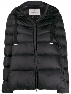 Amy feather down puffer jacket Hetregò. Цвет: черный