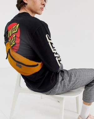 Темно-желтая сумка-кошелек на пояс -Черный New Look