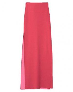 Длинная юбка HERVÉ LÉGER. Цвет: красный