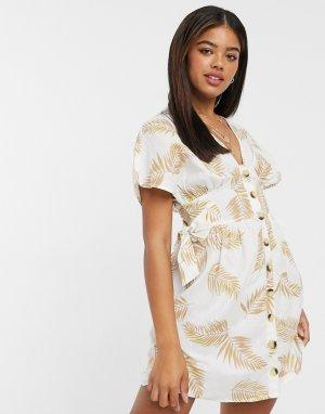 Пляжное платье на пуговицах -Многоцветный Anmol