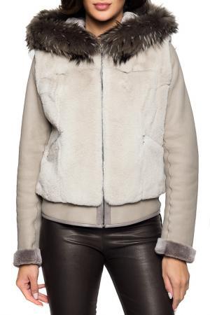 Куртка Giorgio. Цвет: grey
