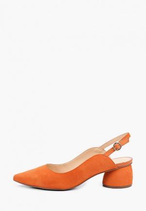 Туфли Arezzo. Цвет: оранжевый