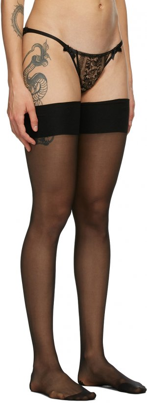 Black Amber Stockings Agent Provocateur. Цвет: black