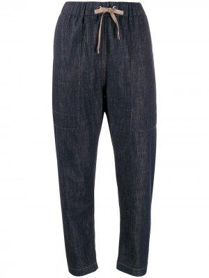 Зауженные джинсовые брюки Brunello Cucinelli. Цвет: синий