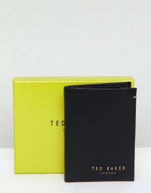 Кожаный складывающийся бумажник Zacks-Черный Ted Baker
