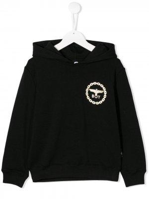 Худи с логотипом Boy London Kids. Цвет: черный