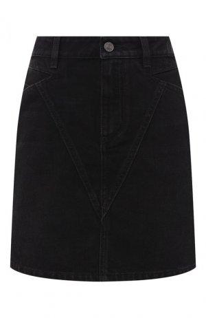 Джинсовая мини-юбка Givenchy. Цвет: чёрный
