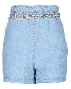 Джинсовые шорты RELISH. Цвет: синий