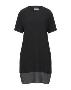 Короткое платье ELEVEN PARIS. Цвет: черный