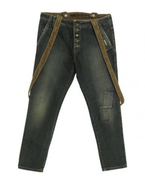 Джинсовые брюки 2 MEN. Цвет: темно-зеленый