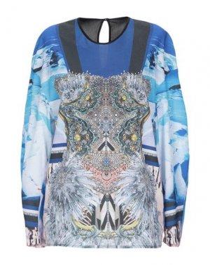 Блузка CLOVER CANYON. Цвет: синий