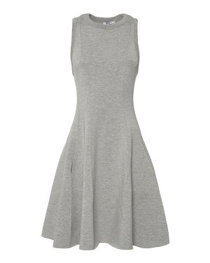 Платье 401409P16 m серый T by Alexander Wang. Цвет: серый