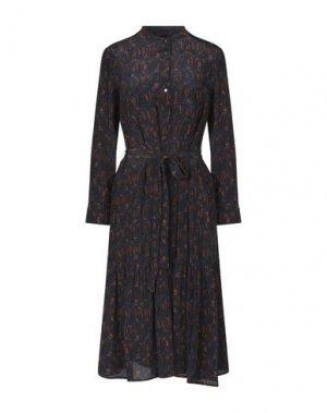 Платье длиной 3/4 ATTIC AND BARN. Цвет: темно-синий
