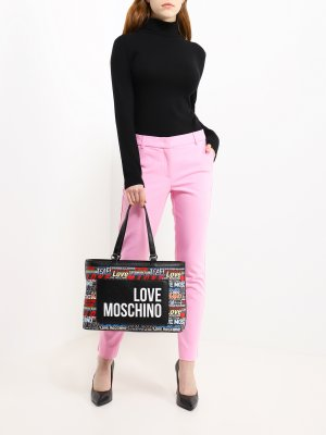 Женская сумка Love Moschino. Цвет: chernyy