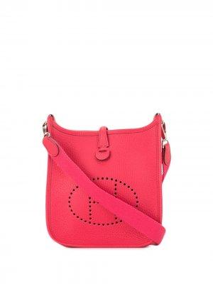 Сумка через плечо Evelyne TPM 2017-го года pre-owned Hermès. Цвет: розовый