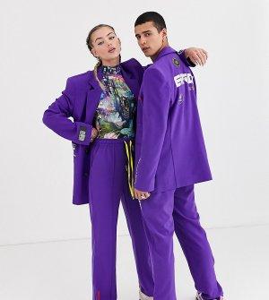 Oversize-пиджак унисекс в винтажном стиле COLLUSION-Синий Collusion