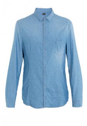 Рубашка PATRIZIA PEPE. Цвет: голубой