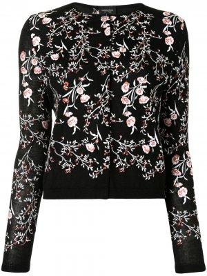 Кардиган с цветочной вышивкой Giambattista Valli. Цвет: черный