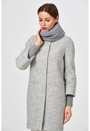 Пальто с вязаным шарфом Elema