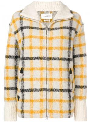 Куртка-бомбер в клетку Isabel Marant Étoile. Цвет: нейтральные цвета