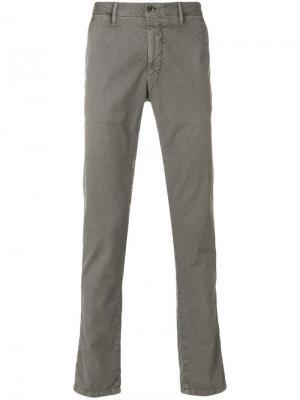 Облегающие брюки чинос Incotex. Цвет: серый