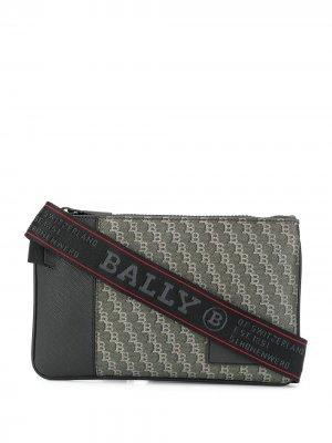 Сумка на плечо с логотипом Bally. Цвет: черный