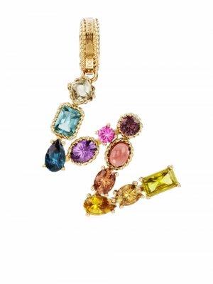 Подвеска из желтого золота с камнями Dolce & Gabbana. Цвет: золотистый