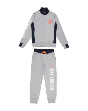 Спортивный костюм FRED MELLO. Цвет: серый