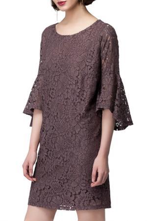 Платье VILATTE. Цвет: кофейный