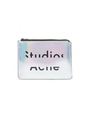 Косметичка ACNE STUDIOS. Цвет: серебристый