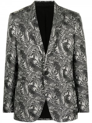 Пиджак с принтом ETRO. Цвет: черный