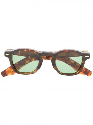 Солнцезащитные очки в оправе черепаховой расцветки Jacque Marie Mage. Цвет: коричневый