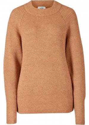 Пуловер из переработанного полиэстера bonprix. Цвет: корич-невый