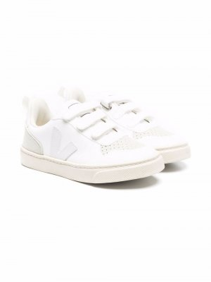 Touch-strap faux-leather sneakers Veja Kids. Цвет: белый