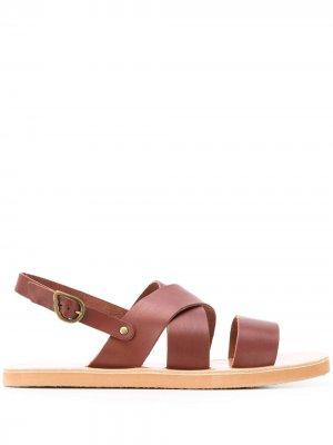 Сандалии Miltos Ancient Greek Sandals. Цвет: коричневый