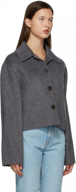 Grey Wool Cropped Jacket Acne Studios. Цвет: 990 grey