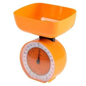 Весы кухонные luazon lvkm-503, механические, до 5 кг, чаша 1000 мл, оранжевые Home