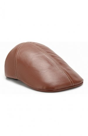 Кожаная кепка Burberry. Цвет: коричневый