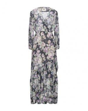 Длинное платье SEMICOUTURE. Цвет: темно-синий
