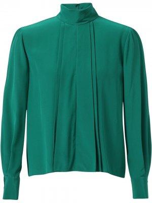 Блузка с плиссировкой Jason Wu. Цвет: зеленый