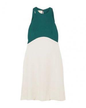 Короткое платье ANTONIO BERARDI. Цвет: зеленый