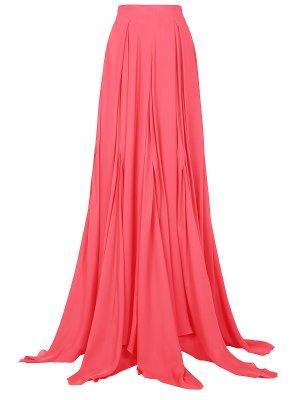 Шелковая юбка в пол Antonio Berardi. Цвет: разноцветный