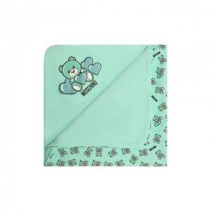 Хлопковое одеяло Moschino. Цвет: зелёный