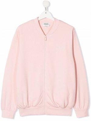 Eye-print bomber jacket Kenzo Kids. Цвет: розовый