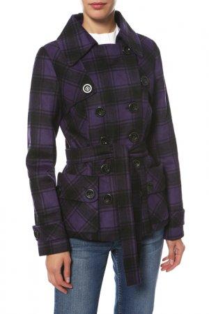 Пальто Frizman. Цвет: фиолетово-черный